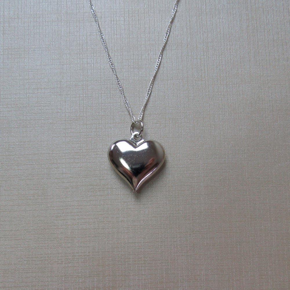 Corrente Prata com Pingente Coração