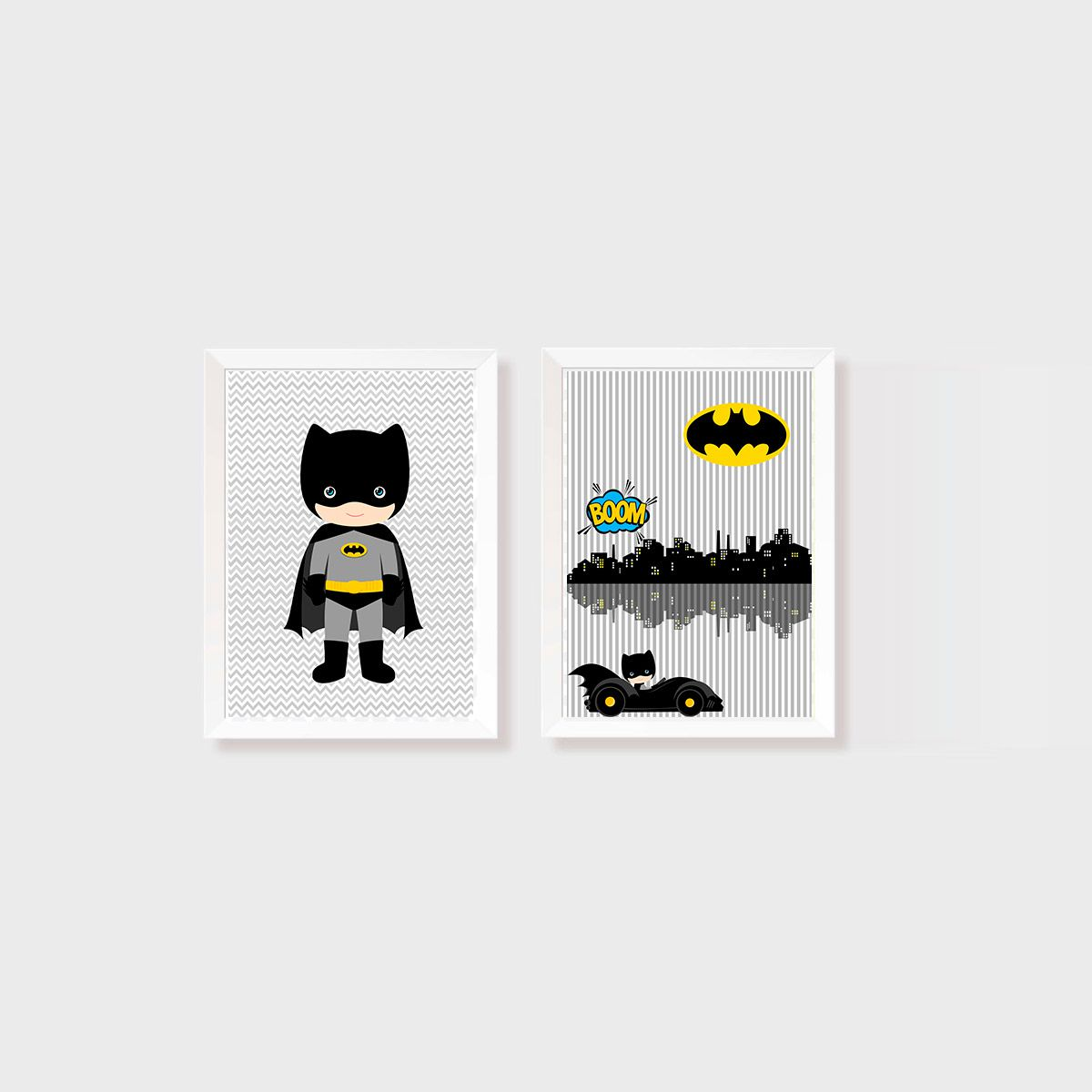 Kit Dois Quadros Batman KID