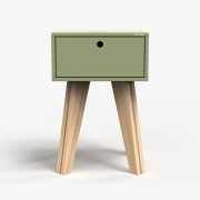 Mesa de Cabeceira Scandinavian - verde oliva