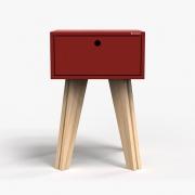 Mesa de Cabeceira Scandinavian - vermelho