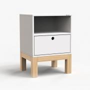 Mesa de Cabeceira Standard 1 Gaveta - Branco