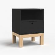 Mesa de Cabeceira Standard 1 Gaveta - Preto