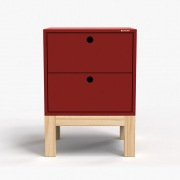 Mesa de Cabeceira Standard 2 Gaveta - Vermelho