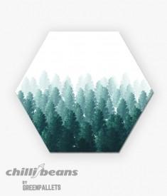 Quadro Hexagonal - Pine Tree