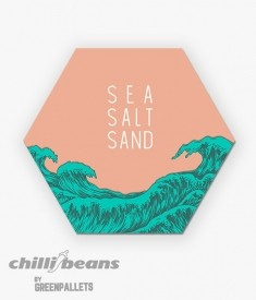 Quadro Hexagonal - Sea Salt Sand