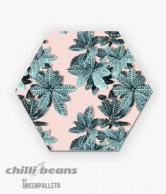 Quadro Hexagonal -  Tropical Leaves