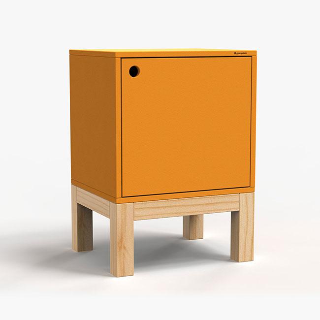 Mesa Lateral Standard - Amarelo  - Greenpallets