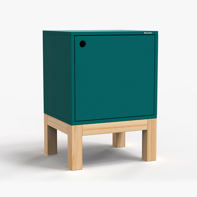 Mesa Lateral Standard - Azul Petróleo  - Greenpallets