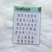 Cartela Alfabeto Pequeno Minúsculo e Números - Máquina de Escrever