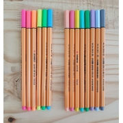 [DESAPEGO - USADO] Kit 14 canetas Stabilo Point 88 fine 0.4 - Neon e Pastel
