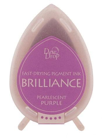Brilliance Dew Drop Pigment Ink Pad - Pearlescent Purple
