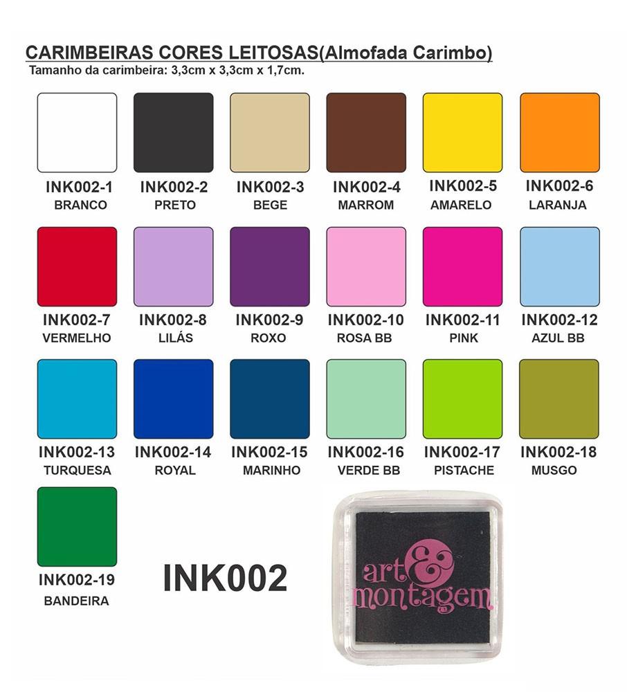 Carimbeira Art Montagem  - 3,3 x 3,3 cm - Verde Bandeira