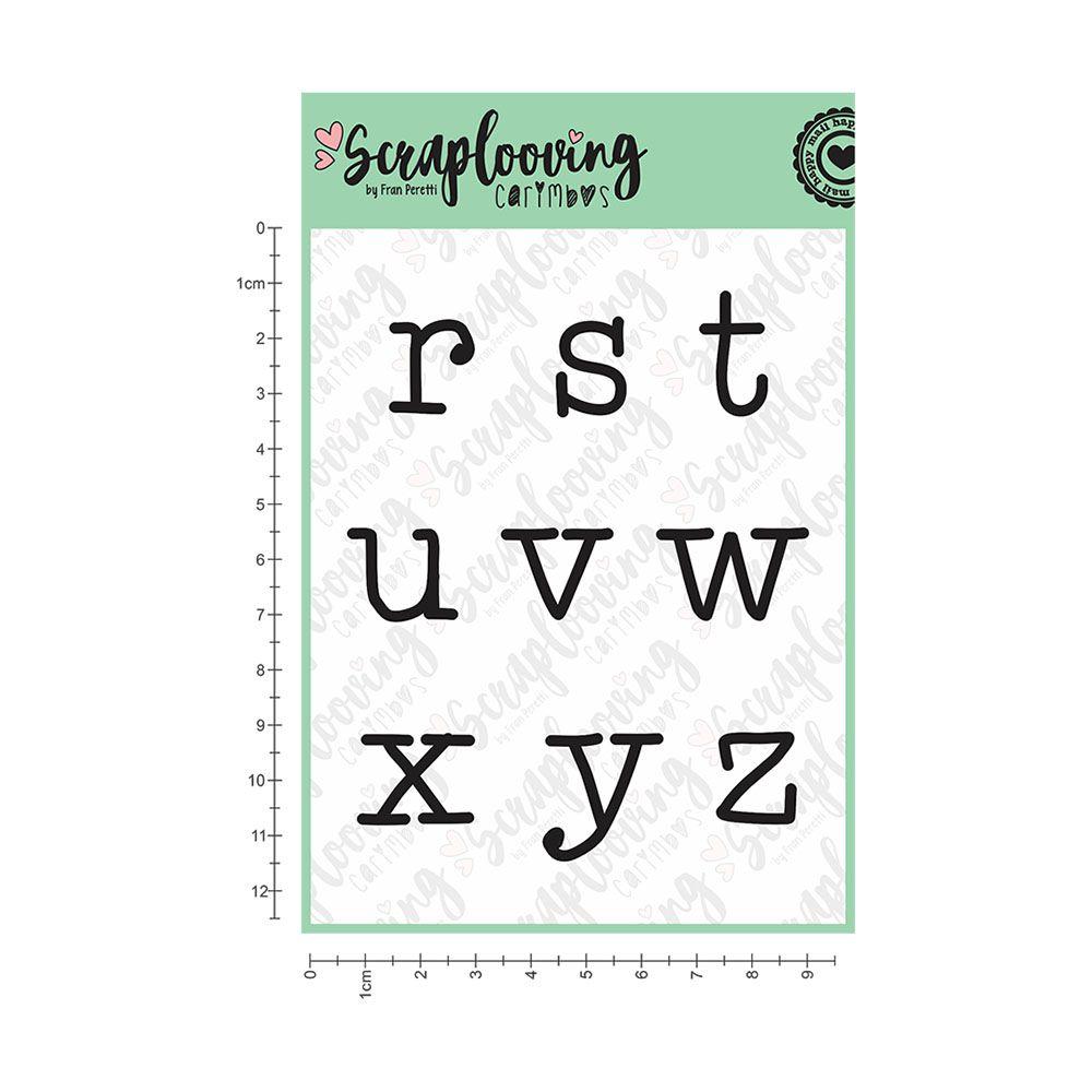 Cartelas Alfabeto Grande - Máquina de Escrever - Minúscula