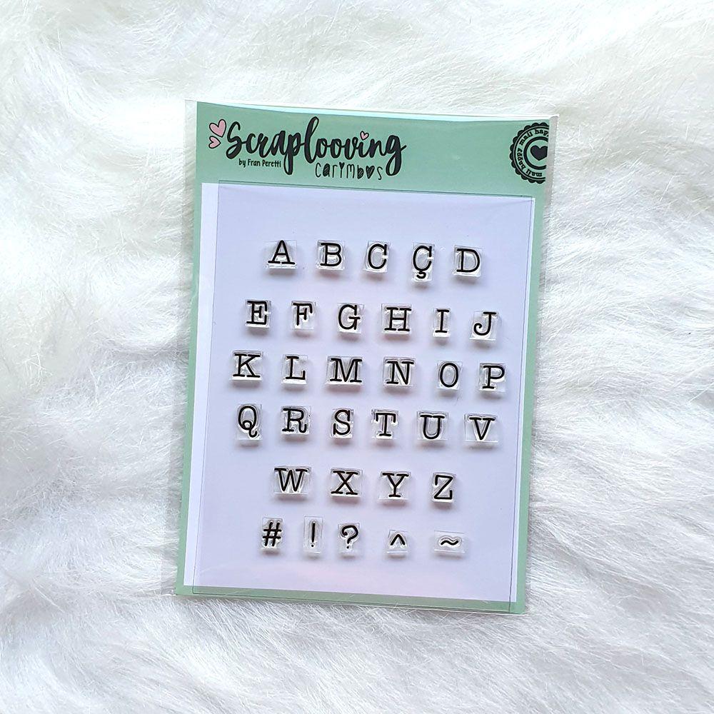 Cartela Alfabeto Pequeno Maiúsculo - Máquina de Escrever