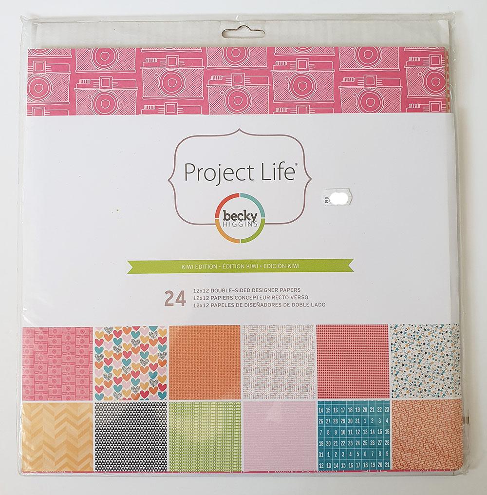 [DESAPEGO - NOVO] Kit Papéis Project Life