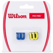 Antivibrador Wilson Pro Feel Azul e Amarelo