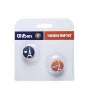 Antivibrador Wilson Roland Garros Eiffel Tower Oficial - Embalagem com 2 unidades