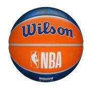 Bola de Basquete NBA New York Knicks Wilson Team Tiedye #7 Azul e Laranja