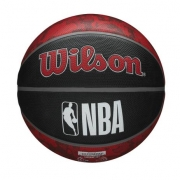 Bola de Basquete NBA Toronto Raptors Wilson Team Tiedye #7 - Preto e Vermelho