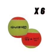 Bola de Beach Tennis Vision - Pack com 6 Bolas