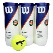 Bola de Tênis Wilson Roland Garros - All Court - Pack c/ 3 Tubos