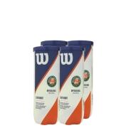Bola de Tênis Wilson Roland Garros Oficial Clay - Pack com 4 tubos