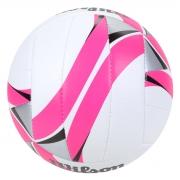 Bola de Vôlei Wilson AVP II Replica - Branca com Pink