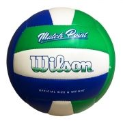 Bola Volei Wilson Match Point Verde Branco e Azul