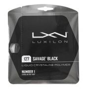 Corda Luxilon Savage Black 16L 1.27mm Preta - Set Individual