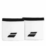 Munhequeira Babolat Logo Curta com 02 Unidades Branca e Preta