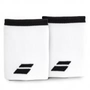 Munhequeira Babolat Logo Jumbo Longa com 02 Unidades Branca e Preto