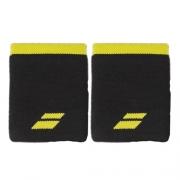 Munhequeira Babolat Logo Jumbo Longa com 02 Unidades Preta e Amarela