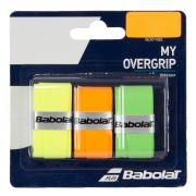 Overgrip Babolat My Overgrip X3 Laranja Verde e Amarelo
