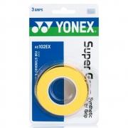 Overgrip Yonex Super Grap Amarelo com 3 Unidades