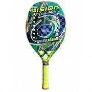 Raquete Beach Tennis VISION WHITE CARBON UNI.KA 2020