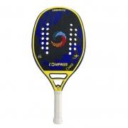 Raquete de Beach Tennis Compass Coast Azul e Amarelo