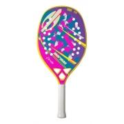 Raquete de Beach Tennis Mormaii Defender Amarela e Rosa