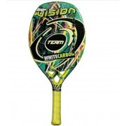 Raquete de Beach Tennis Vision White Carbon Team - 2020