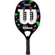 Raquete de Beach Tennis Wilson Energy - Preta e Branca