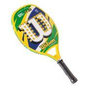 Raquete de Beach Tennis Wilson WS 17.20 Azul/Verde/Amarelo