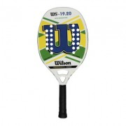 Raquete de Beach Tennis Wilson WS 19.20 Branca/Azul/Verde