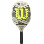 Raquete de Beach Tennis Wilson WS 19.20 Branca/Verde/Cinza