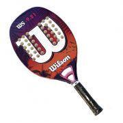 Raquete de Beach Tennis Wilson WS 9.21 Roxa/Branca