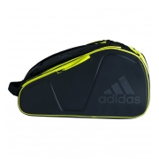 Raqueteira Adidas Protour Para Padel e Beach Tennis Preta e Limão