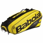 Raqueteira Babolat Pure Aero X6 Preta e Amarela