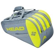 Raqueteira Beach Tennis Head Core - Cinza e Amarelo