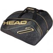 Raqueteira Head Beach Tennis Padel Tour Team Monstercombi - Preto e Dourada