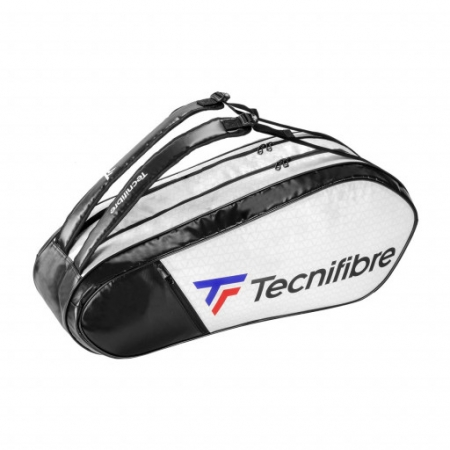 Raqueteira Tecnifibre Tour RS Endurance 6R Dupla Preta e Branca