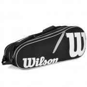 Raqueteira Wilson Esp Advantage II 6 Pack - Preta e Branca