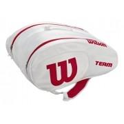 Raqueteira Wilson Team para Padel e Beach Tennis Branca e Vermelha
